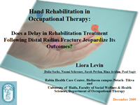 Does a Delay in Occupational Therapy Following Distal Radius Fracture Jeopardize