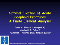 Optimal Fixation of Acute Scaphoid Fractures – A Finite Element Analysis
