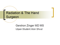Radiation Exposure to the Hands using Mini C-arm Fluoroscopy