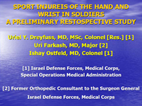Sport Injuries of the Hand in Soldiers